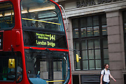 Modern Double decker bus, London, UK