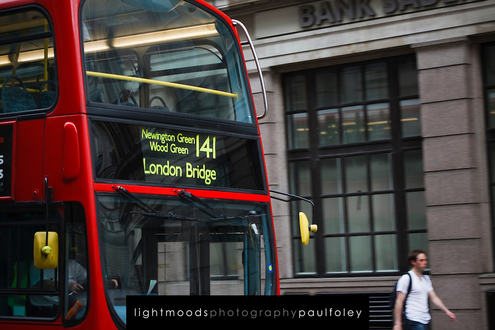 Modern Double decker bus, London, UK
