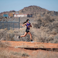 Miyamura ninth-grader Lorianna Piestewa competes in the Curtis Williams Cross Country Invitational at Rehoboth Christian High School Saturday in Rehoboth. Piestewa  completed the 3.1 mile course as the girls individual champion with a time of 22:55.51.