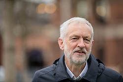 © Licensed to London News Pictures. 02/01/2019. London, UK. Leader of the Labour Party Jeremy Corbyn outside King's Cross Station in London. Photo credit: Rob Pinney/LNP