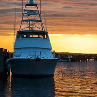 Sunrise shot of boat on the Vineyard
