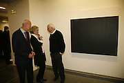 Ellsworth Kelly with painting lenders Jerry Monkarsh and Joy Monkarsh. , Ellsworth Kelly exhibition opening. Serpentine Gallery and afterwards at the River Cafe. London. 17 March 2006. ONE TIME USE ONLY - DO NOT ARCHIVE  © Copyright Photograph by Dafydd Jones 66 Stockwell Park Rd. London SW9 0DA Tel 020 7733 0108 www.dafjones.com