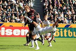 15.10.2011,  BorussiaPark, Mönchengladbach, GER, 1.FBL, Borussia Mönchengladbach vs Bayer 04 Leverkusen, im Bild.Stefan Kiessling (Leverkusen #11) gegen Martin Stranzl (Mönchengladbach #39)..// during the 1.FBL, Borussia Mönchengladbach vs Bayer 04 Leverkusen on 2011/10/13, BorussiaPark, Mönchengladbach, Germany. EXPA Pictures © 2011, PhotoCredit: EXPA/ nph/  Mueller *** Local Caption ***       ****** out of GER / CRO  / BEL ******