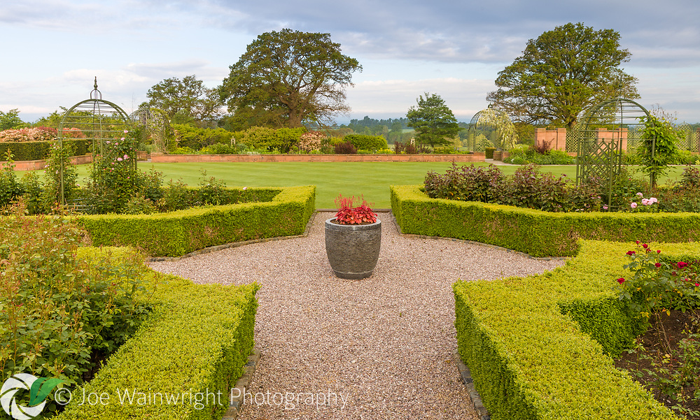 Carden Hall, a private property near Malpas in south Cheshire with large formal gardens. Photographed in May.<br /> <br /> This image is available for sale for editorial purposes, please contact me for more information.