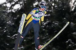 Katharina Keil of Austria during Normal Hill Individual Competition at FIS World Cup Ski jumping Ladies Ljubno 2012, on February 11, 2012 in Ljubno ob Savinji, Slovenia. (Photo By Vid Ponikvar / Sportida.com)