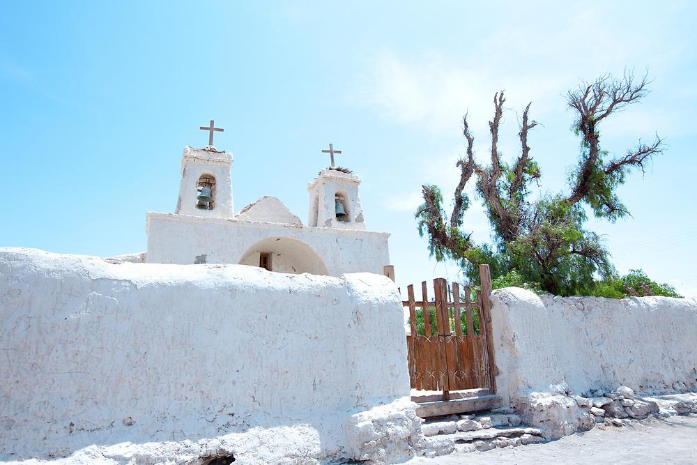 Church of Chiu Chiu, a little village in the Atacama Desert near Calama in northern Chile