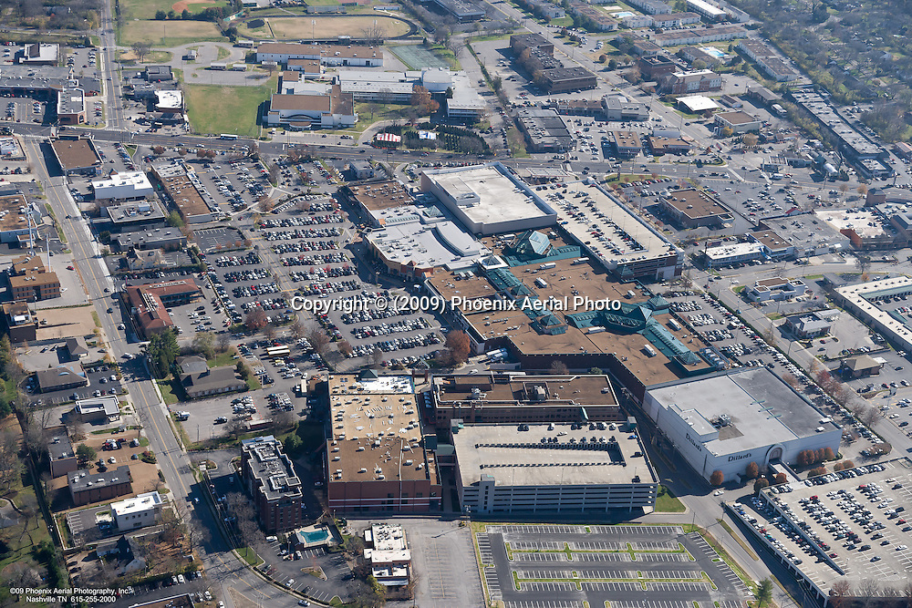 Aerial photo showing the Greenhills Mall in Nashville Tennessee on Black Friday.