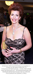 Entertainer MISS CLEO ROCOS at a reception in London on 5th March 2002.OXY 74
