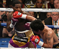 Jan 19,2019. Las Vegas NV. (in blk trunks) Manny Pacquiao goes 12 rounds with Adrien Broner at the MGM grand Hotel Saturday. Manny Pacquiao took the win by unanimous decision for the World Welterweight Championship. .Photo by Gene Blevins/ZumaPress. (Credit Image: © Gene Blevins/ZUMA Wire)