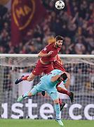 Foto Luciano Rossi/AS Roma/ LaPresse<br /> 10/04/2018 Roma (Italia)<br /> Sport Calcio<br /> AS Roma - Barcellona    <br /> Uefa Champions League 2017 2018 -  Stadio Olimpico di Roma<br /> Nella foto: Federico Fazio, Luis Suarez<br /> <br /> Photo  Luciano Rossi/AS Roma/ LaPresse<br /> 10/04/2018 Rome (Italy)<br /> Sport Soccer<br /> Barcellona -  AS Roma   <br /> Uefa Champions League 2017 2018 - Olimic Stadium of Rome<br /> In the pic:  Federico Fazio, Luis Suarez