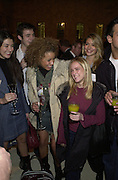 Amy Garing, Kelly Becket, ( frizz hair) Fern Peat, and Holly Willoughby from S club 7 T.V. Sunday Times Christmas party. British Museum. 27  November 2000. © Copyright Photograph by Dafydd Jones 66 Stockwell Park Rd. London SW9 0DA Tel 020 7733 0108 www.dafjones.com