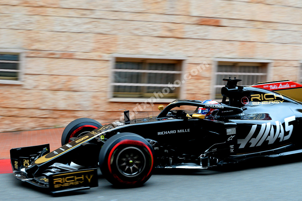 Romain Grosjean (Haas-Ferrari) during practice before the 2019 Monaco Grand Prix. Photo: Grand Prix Photo