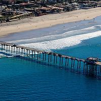 USA, California, San Diego. Scripps Pier, La Jolla Shores.