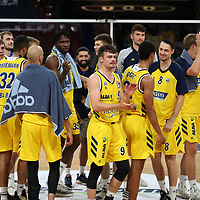 Alba Berlin jubelt über den Finaleinzug<br /> <br /> Basketball, nph0001 1.Bundesliga BBL-Finalturnier 2020.<br /> Halbfinale Spiel 2 am 24.06.2020.<br /> <br /> Alba Berlin vs EWE Baskets Oldenburg <br /> Audi Dome<br /> <br /> Foto: Christina Pahnke / sampics  / POOL / nordphoto<br /> <br /> National and international News-Agencies OUT - Editorial Use ONLY