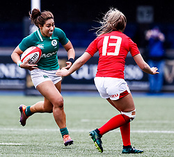 Sene Naoupu of Ireland <br /> <br /> Photographer Simon King/Replay Images<br /> <br /> Six Nations Round 5 - Wales Women v Ireland Women- Sunday 17th March 2019 - Cardiff Arms Park - Cardiff<br /> <br /> World Copyright © Replay Images . All rights reserved. info@replayimages.co.uk - http://replayimages.co.uk