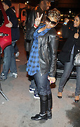 Chrisette Michelle departs the Jadakiss performance in support of his new album ' The Last Kiss '  held at Highline Ballroom on April 8, 2009 in New York City