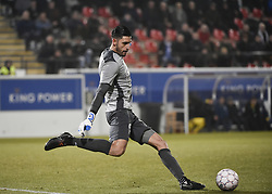 February 17, 2018 - Leuven, BELGIUM - Beerschot's goalkeeper Rafael Romo, shoot, the ball and during a soccer game between OH Leuven and KFCO Beerschot Wilrijk, in Heverlee, Leuven, Saturday 17 February 2018, on day 27 of the division 1B Proximus League competition of the Belgian soccer championship. BELGA PHOTO BRUNO FAHY (Credit Image: © Bruno Fahy/Belga via ZUMA Press)