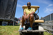 Cakes Da Killer poses for a portrait before performing at the Red Bull Sound Select stage at the Firefly Music Festival in Dover, DE on June 20, 2014.