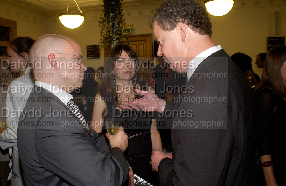 Toby Young, Caroline Young and Edward Fitzgerald, 'Feast Food that celebrates Life' by Nigella Lawson- book launch. Cadogan Hall, Sloane Terace. 11 October 2004. ONE TIME USE ONLY - DO NOT ARCHIVE  © Copyright Photograph by Dafydd Jones 66 Stockwell Park Rd. London SW9 0DA Tel 020 7733 0108 www.dafjones.com
