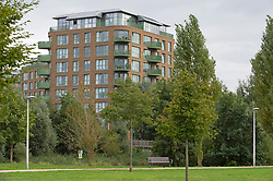 © Licensed to London News Pictures 23/09/2021. Kidbrooke, UK, Grayston House in Astell Road over looks Cator Park. (Unconfirmed reports that Sabina lived in this block). A large police cordon is still in place around Cator Park at Kidbrooke Village in Kidbrooke, South East London today after the body of 28 year old school teacher Sabina Nessa was found near a community centre. Police have said Sabina left her home and walked through Cator Park heading for the Depot pub at Pegler Square in Kidbrooke Village to meet a friend. Photo credit:Grant Falvey/LNP