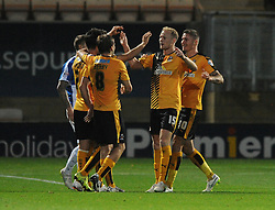 Barry Corr of Cambridge United celebrates with his team mates after scoring - Mandatory byline: Dougie Allward/JMP - 07966 386802 - 30/10/2015 - FOOTBALL - The Abbey Stadium - Cambridge, England - Cambridge United v Bristol Rovers - Sky Bet League Two