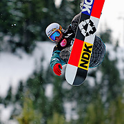 Swiss National Snowboard Team member Rolf Feldmann competes during qualifying at the 2009 LG Snowboard FIS World Cup at Cypress Mountain, British Columbia, on February 16th, 2009. Feldmann finished 39th in a field of 70.