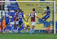Birmingham City's Clayton Donaldson nearly opens the scoring with his headed effort<br /> <br /> Photographer James Williamson/CameraSport<br /> <br /> The EFL Sky Bet Championship - Birmingham City v Aston Villa - Sunday October 30th 2016 - St Andrews - Birmingham<br /> <br /> World Copyright © 2016 CameraSport. All rights reserved. 43 Linden Ave. Countesthorpe. Leicester. England. LE8 5PG - Tel: +44 (0) 116 277 4147 - admin@camerasport.com - www.camerasport.com