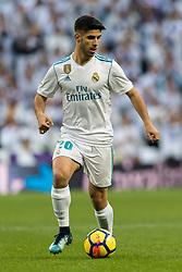 Marco Asensio of Real Madrid during the La Liga Santander match between Real Madrid CF and Sevilla FC on December 09, 2017 at the Santiago Bernabeu stadium in Madrid, Spain.
