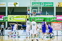 Christopher Booker of KK Zlatorog during basketball match between KK Zlatorog and KK Helios Suns in 1st match of Nova KBM Slovenian Champions League Final 2015/16 on May 29, 2016  in Dvorana Zlatorog, Lasko, Slovenia.  Photo by Ziga Zupan / Sportida