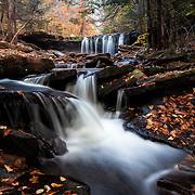 Oneida waterfall in Pennsylvania during autum
