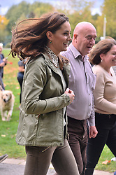 © Licensed to London News Pictures. 02/10/2018. London, UK. Catherine, Duchess Of Cambridge on a walkabout meeting member of the public during a visit to Sayers Croft Forest School and Wildlife Garden at Paddington Recreation Ground. Photo credit: Ray Tang/LNP