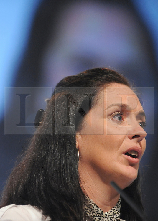 © Licensed to London News Pictures. 29/09/2011. LONDON, UK. Senior Liberal Democrat Lynnie Williams announces she is defecting to the Labour Party at The Labour Party Conference in Liverpool today (2829/09/11). Photo credit:  Stephen Simpson/LNP