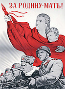 Soviet Russian poster 'For The Motherland' 1943