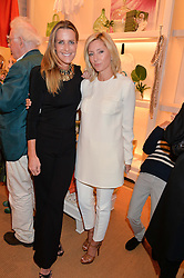 Left to right, PRINCESS MARIE-CHANTAL OF GREECE and INDIA HICKS at a party to celebrate the publication of India Hicks: Island Style hosted by Princess Marie-Chantal of Greece, Saffron Aldridge and Amanda Brooks has held at Ralph Lauren, 105-109 Fulham Road, London on 28th April 2015,