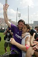 Firenze 29-5-05<br /> Fiorentina Brescia Campionato Serie A 2004 2005<br /> nella  foto Riganò e Di Livio esultano a fine partita<br /> Foto Snapshot / Graffiti