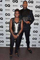 NICOLA ADAMS and ANTHONY JOSHUA at the GQ Men of The Year Awards 2016 in association with Hugo Boss held at Tate Modern, London on 6th September 2016.