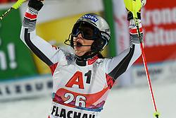 14.01.2020, Hermann Maier Weltcupstrecke, Flachau, AUT, FIS Weltcup Ski Alpin, Slalom, Damen, 2. Lauf, im Bild Franziska Gritsch (AUT) // Franziska Gritsch of Austria reacts after her 2nd run of women's Slalom of FIS ski alpine world cup at the Hermann Maier Weltcupstrecke in Flachau, Austria on 2020/01/14. EXPA Pictures © 2020, PhotoCredit: EXPA/ Erich Spiess