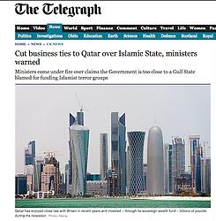 The Telegraph; Skyline of Doha Qatar