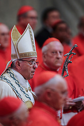 June 28, 2017 - Vatican City State - POPE FRANCIS arrives to St. Peter's Basilica at the Vatican prior to appointing five new Cardinals. (Credit Image: © Evandro Inetti via ZUMA Wire)