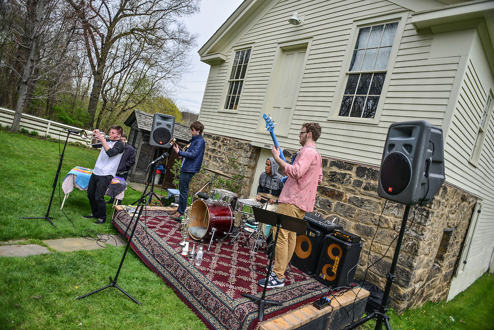 Acid Cats performing at Block to Lock: Bike for the Earth Day.