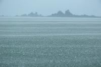 Heavy rain on the ocean.<br />Coiba Island<br />Coiba National Park