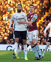 Football - 2019 / 2020 Emirates FA Cup - Third Round:  Fulham vs. Aston Villa<br /> <br /> Michael Hector making his Fulham debut with Bjorn Engels of Villa, at Craven Cottage.<br /> <br /> COLORSPORT/ANDREW COWIE