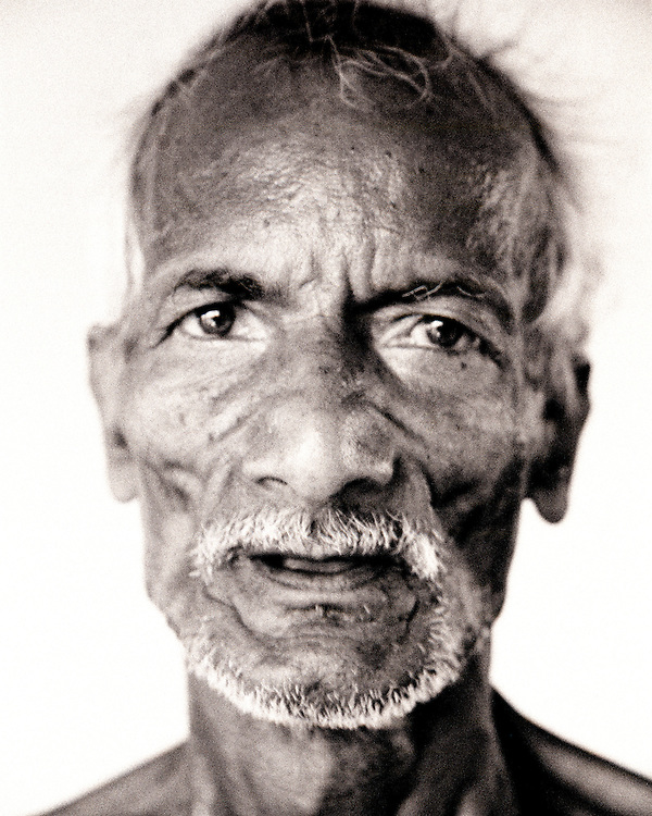Black and White Portrait of an old man