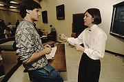 Elizabeth Warren teaches a course in Bankruptcy Lawat the University of Pennsylvania, 1990