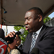 Thousand of supporters show support as Attorney Benjamin Crump speaks during a rally for the shooting of Trayvon Martin on Thursday,March 22, 2012 at Fort Mellon Park in Sanford, Florida. (AP Photo/Alex Menendez) Trayvon Martin rally in Sanford, Florida.