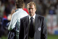 Photo: Paul Thomas.<br /> Estonia v England. UEFA European Championships Qualifying, Group E. 06/06/2007.<br /> <br /> Steve McClaren, England manager, walks off the field after their win.