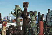 Nevada Nuclear Test site- Used drill bits in the drilling storage yard for underground nuclear tests. (1988)