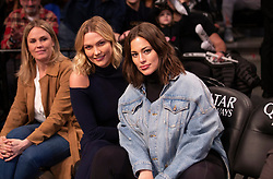 Ashley Graham and Karlie Kloss attend Brooklyn Nets game at Barclays Center. The two models have a wild time, shooting t-shirt canons and posing for selfies. 01 Apr 2019 Pictured: Karlie Kloss, Ashley Graham. Photo credit: Anthony J Causi @ACausi / MEGA TheMegaAgency.com +1 888 505 6342