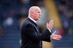 Falkirk's manager Peter Houston.<br /> Raith Rovers 0 v 0 Falkirk, Scottish Championship game played 27/9/2014 at Raith Rovers Stark Park.