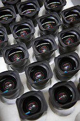 SOLMS, GERMANY - MAY-18-2009 - A tray of finished Leica Summilux-M 21mm f-1.4 lenses.  (Photo © Jock Fistick)
